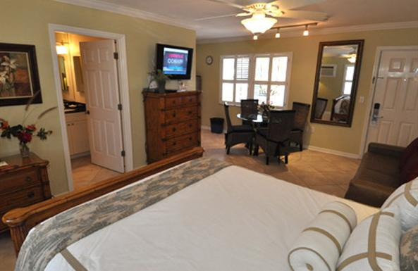 Fresh, clean rooms just steps from the white sands of Siesta