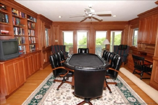 Poker table room-library