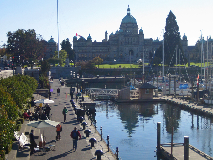Close to Inner Harbour, Royal BC Museam/Imax and Parliament