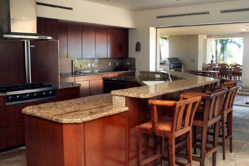 Chef\'s dream kitchen with professional grade appliances.