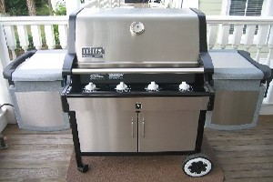 Brand new Stainless Weber gas grill