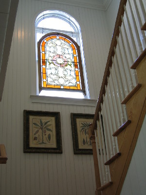 Cool window lights wooden staircase
