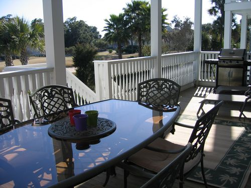 """Grill, dine outside, or just relax on the lower balcony.\"""