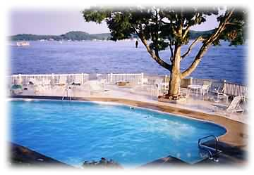 What a view from the heated pool at Bay Point!