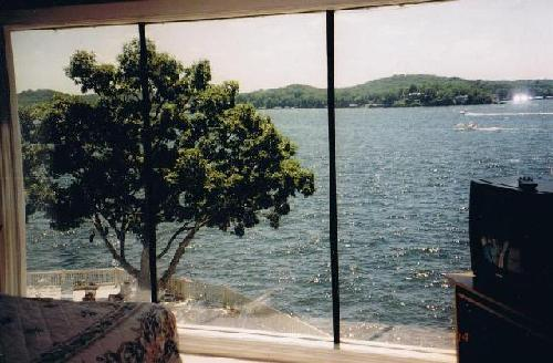 View of the lake from your living room, master bedroom or ba