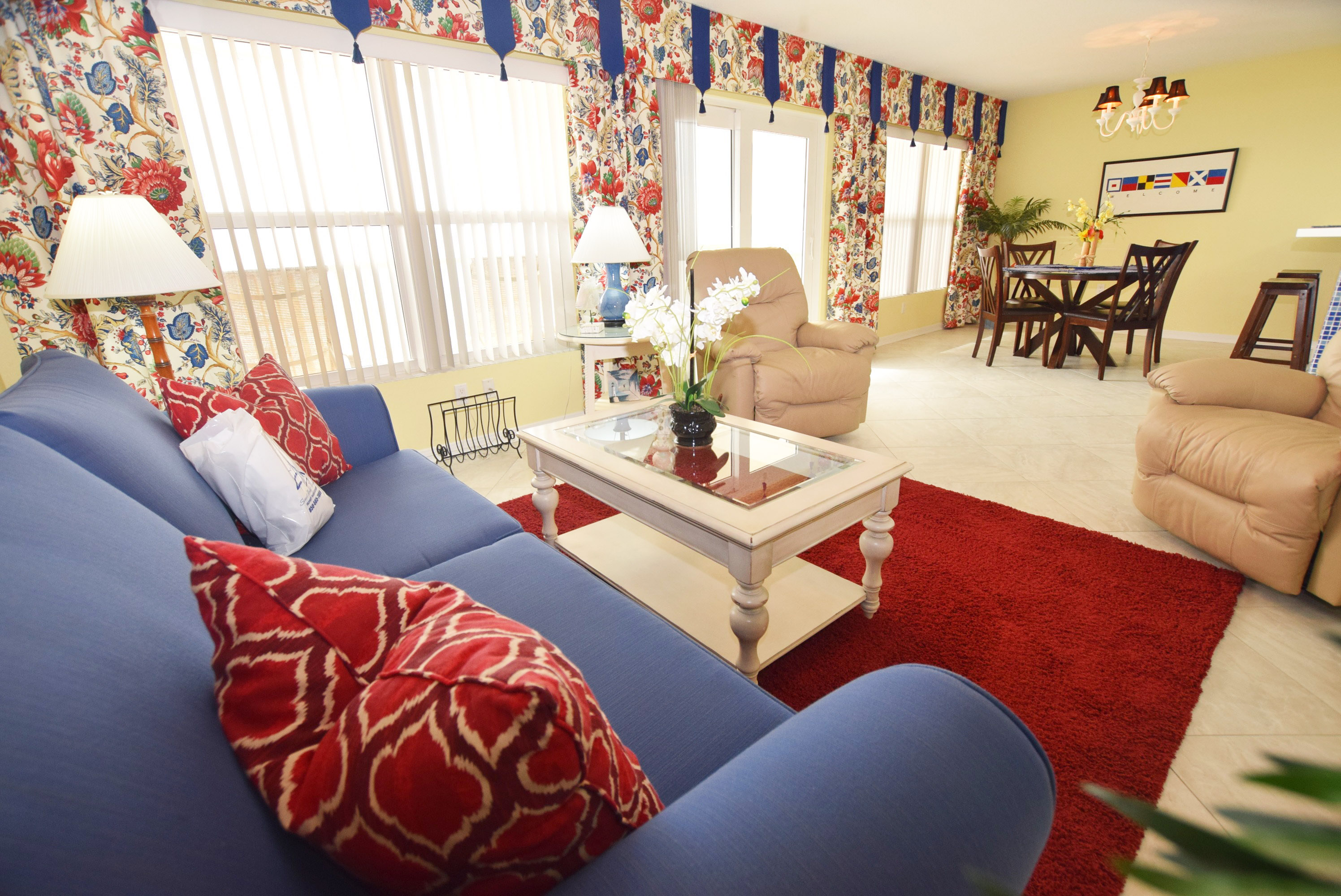 Living Room - Islander Beach 4009 Fort Walton Beach Okaloosa Island Vacation Rentals