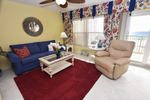 Living Room with Private Balcony - Islander Beach 4009 Fort Walton Beach Okaloosa Island Vacation Rentals