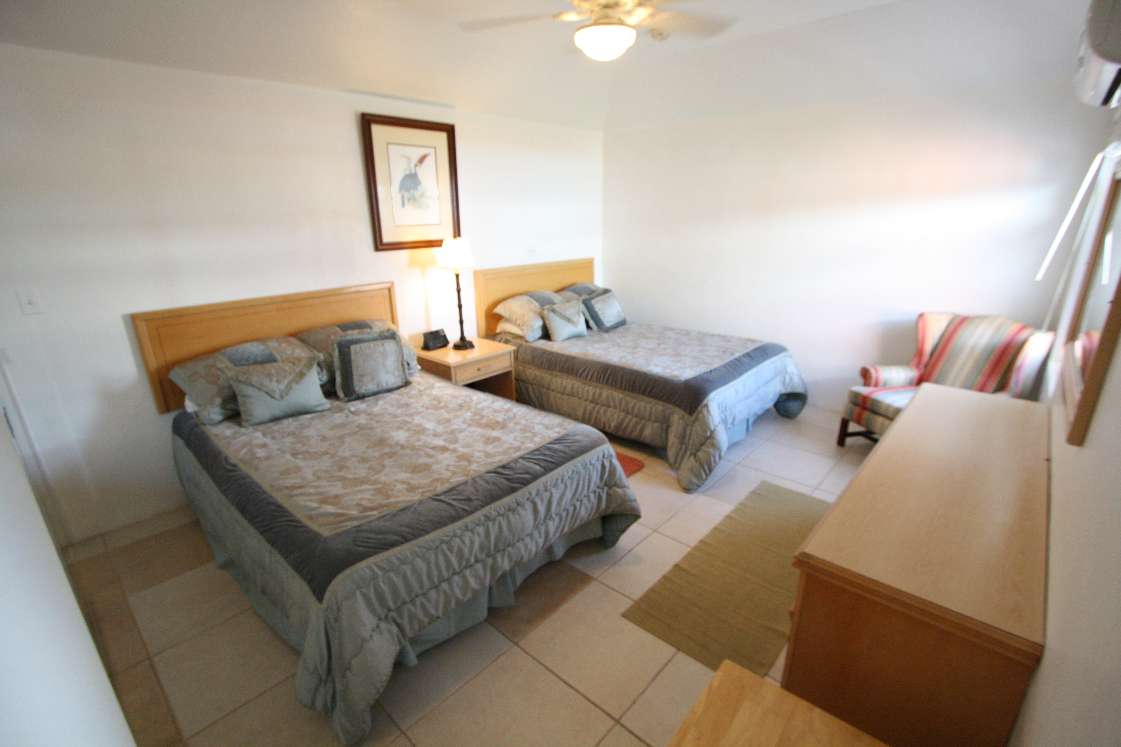One of the two bedrooms