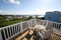 Upper balcony with views of St.Georges Harbour