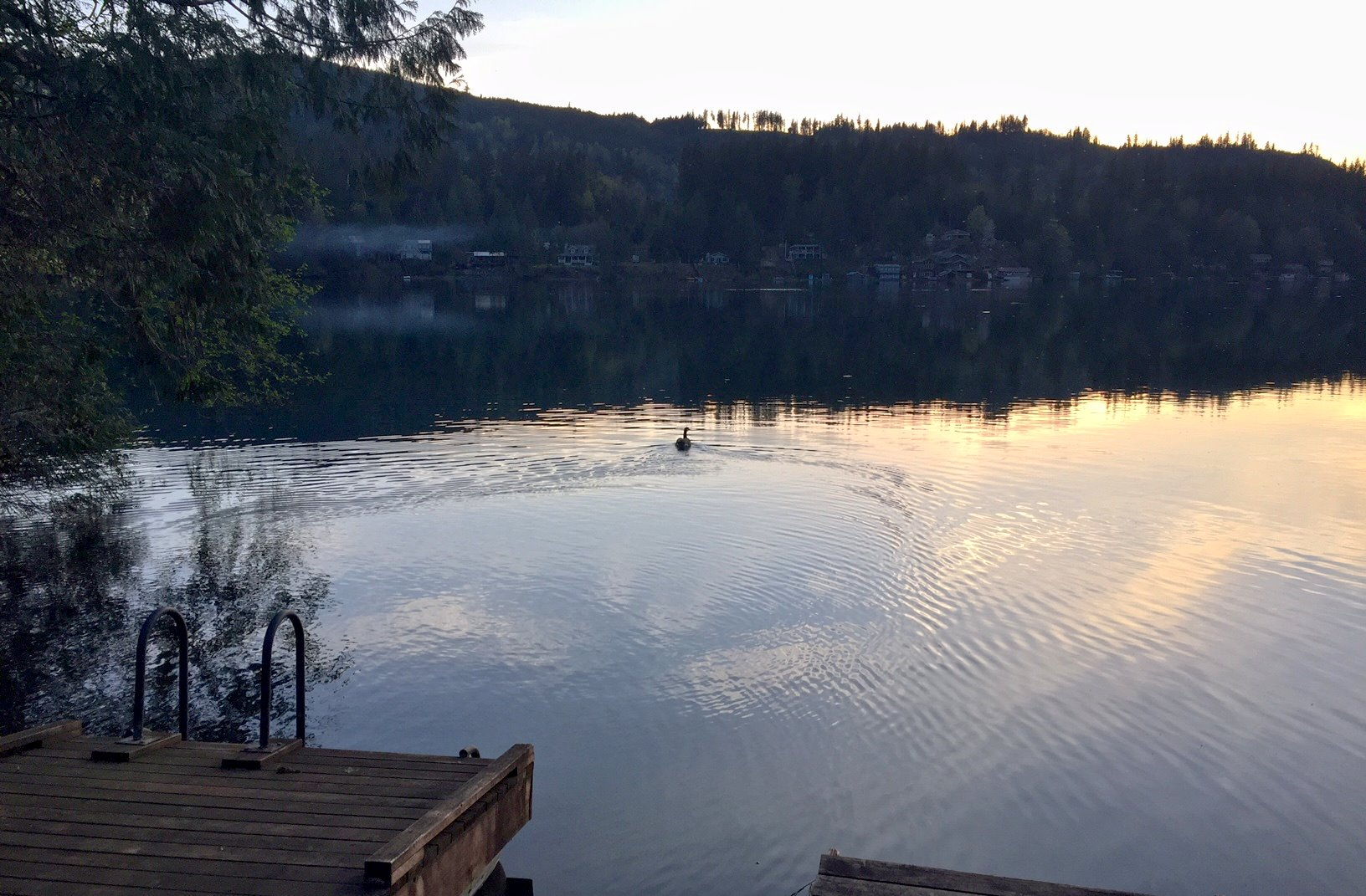 Dock over looking Silver Lake