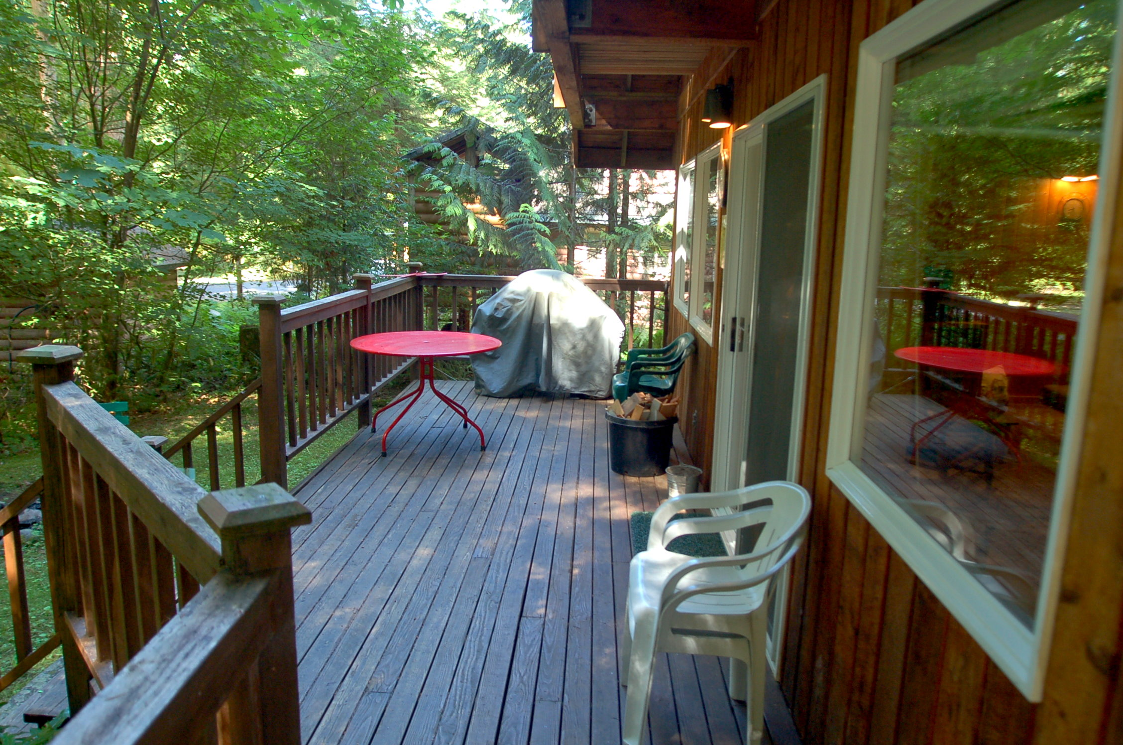 Enjoy the extension of the house on this great deck.