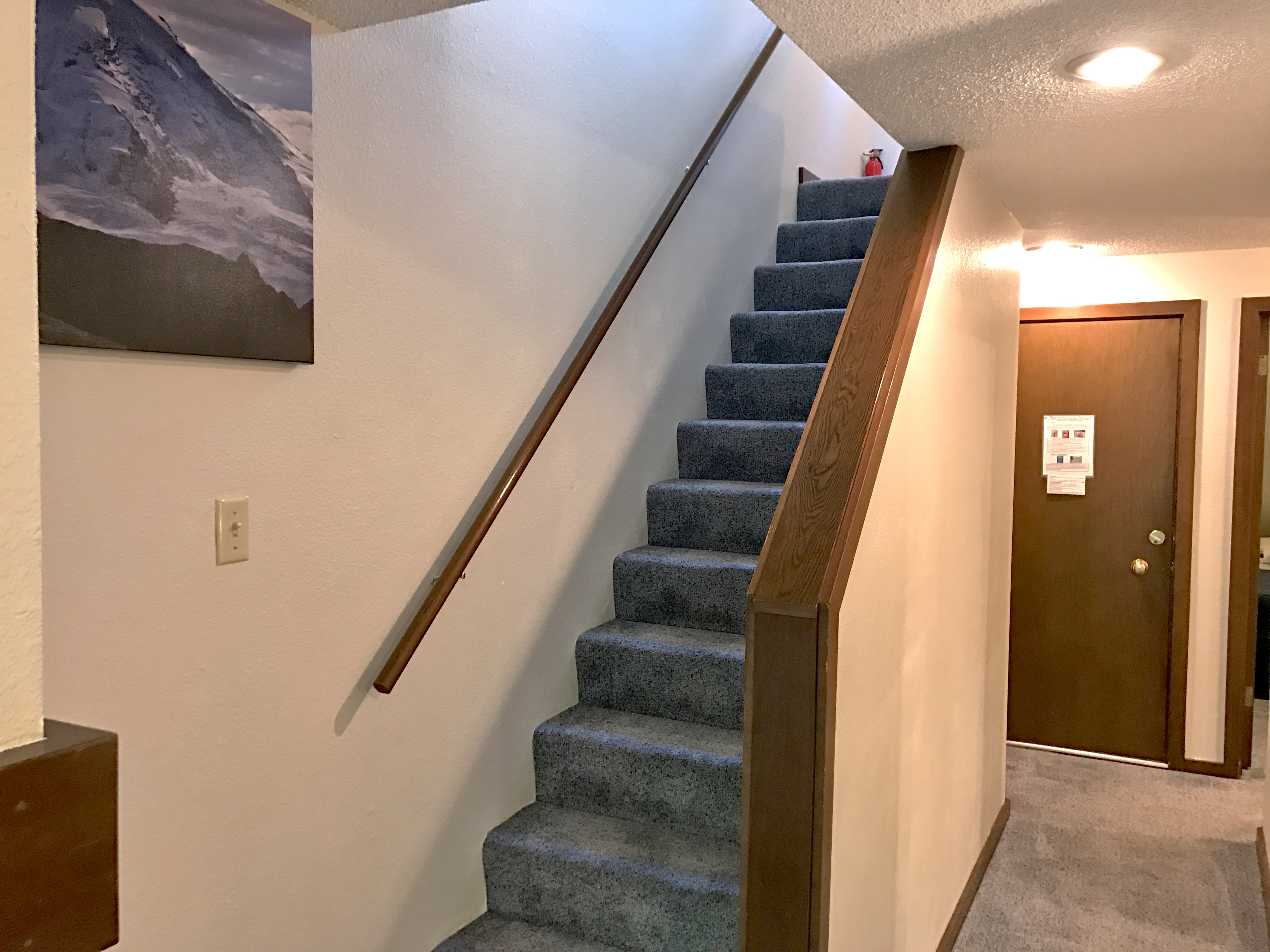 Stairwell up to the loft bedroom