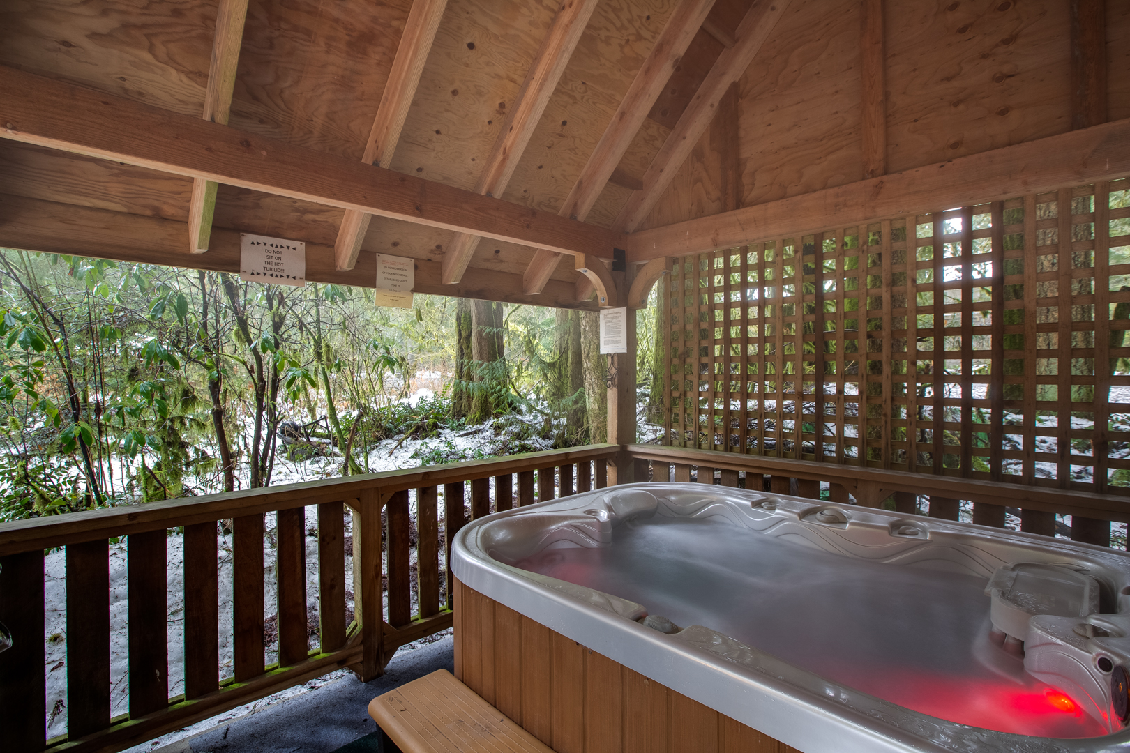 Enjoy your private hot tub