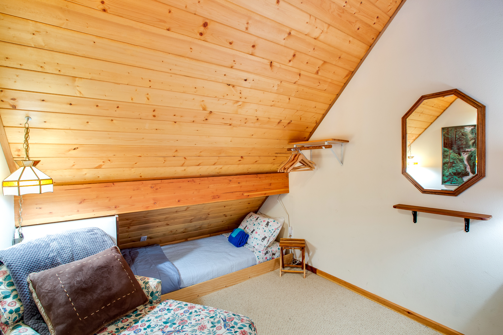 Loft area with built in twin bed