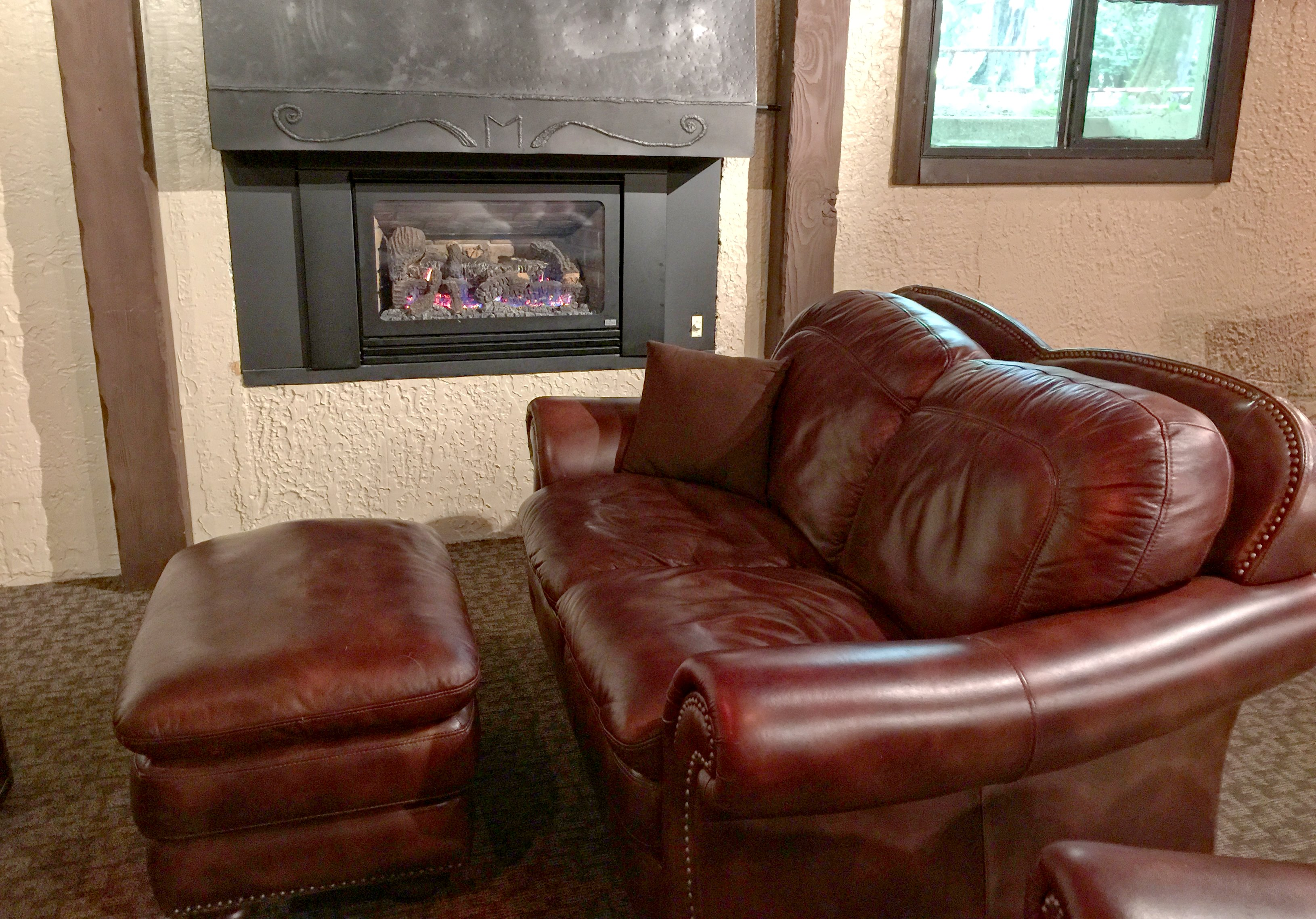 Snowline Lodge Entertainment Room - located in the lower level of the building