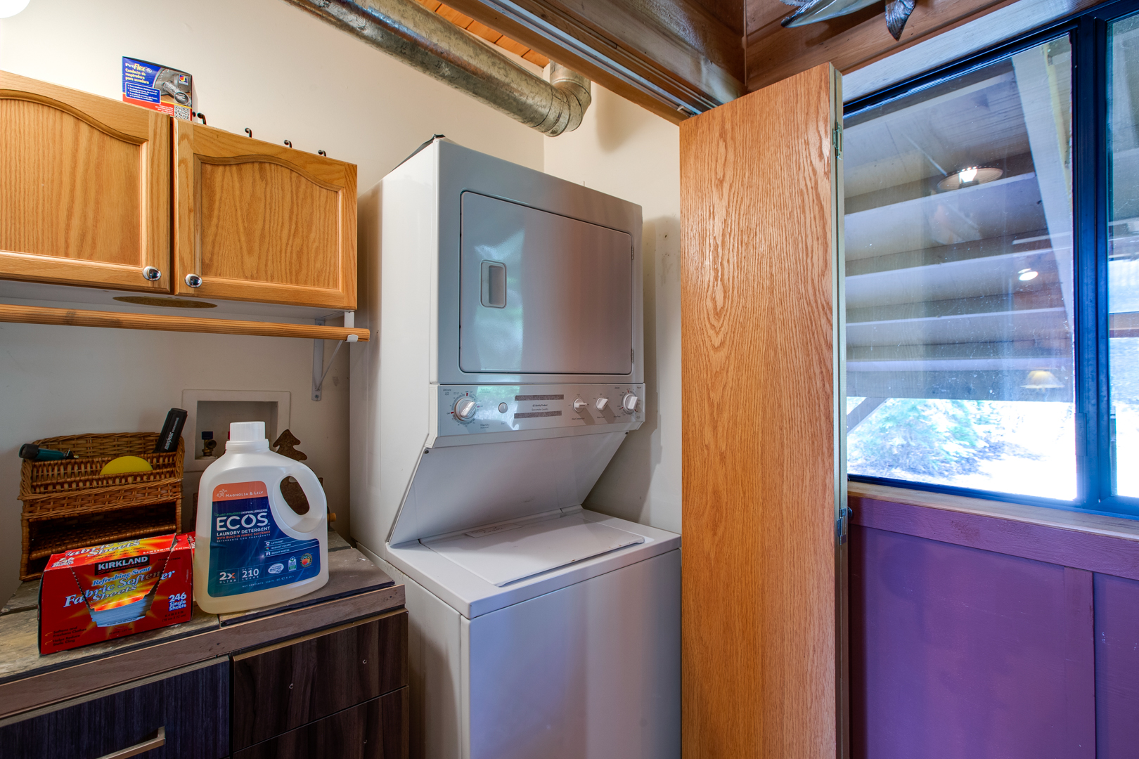 Laundry space in closet