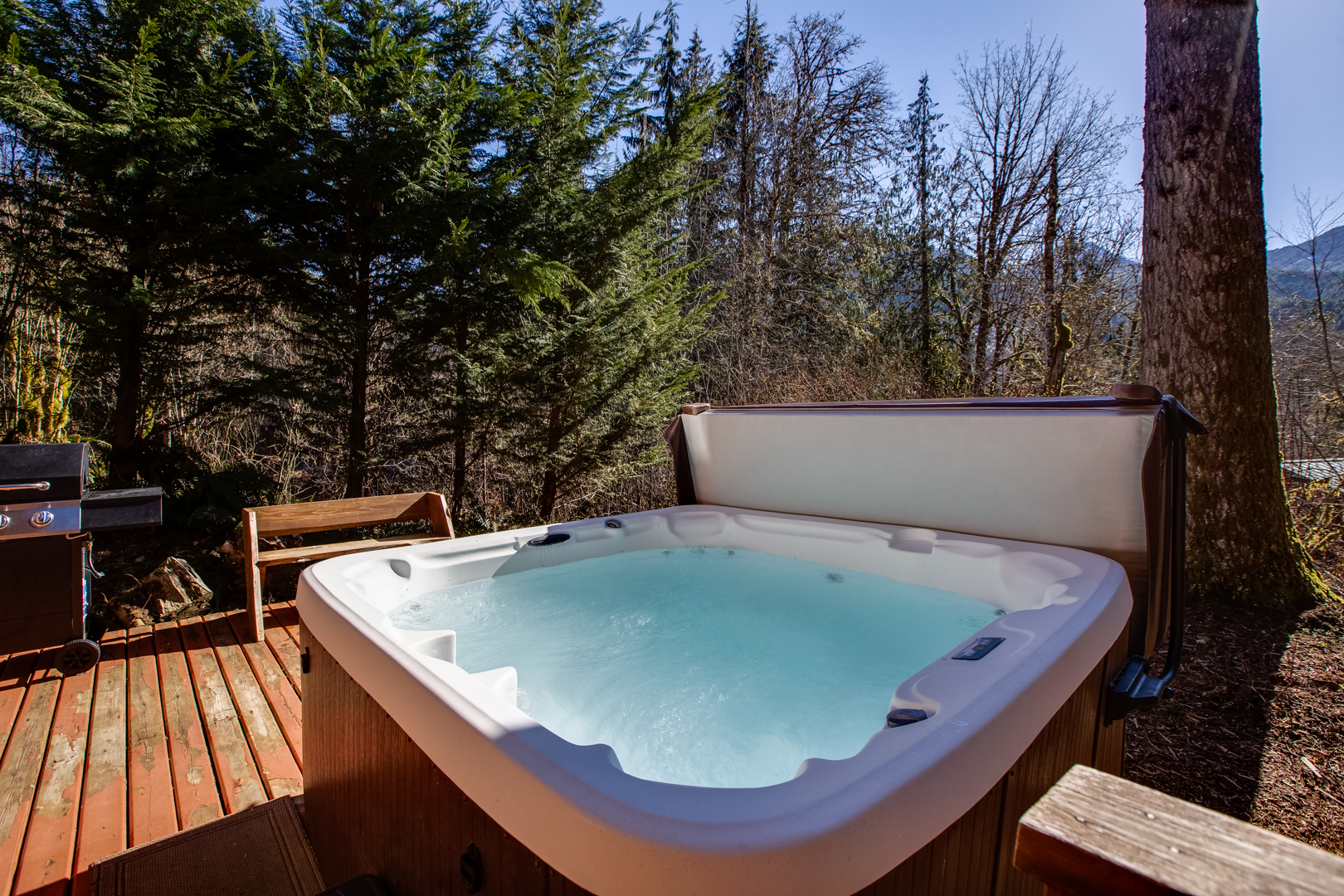 Another view of hot tub