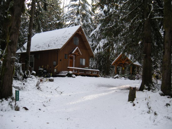 Front of the house during the winter