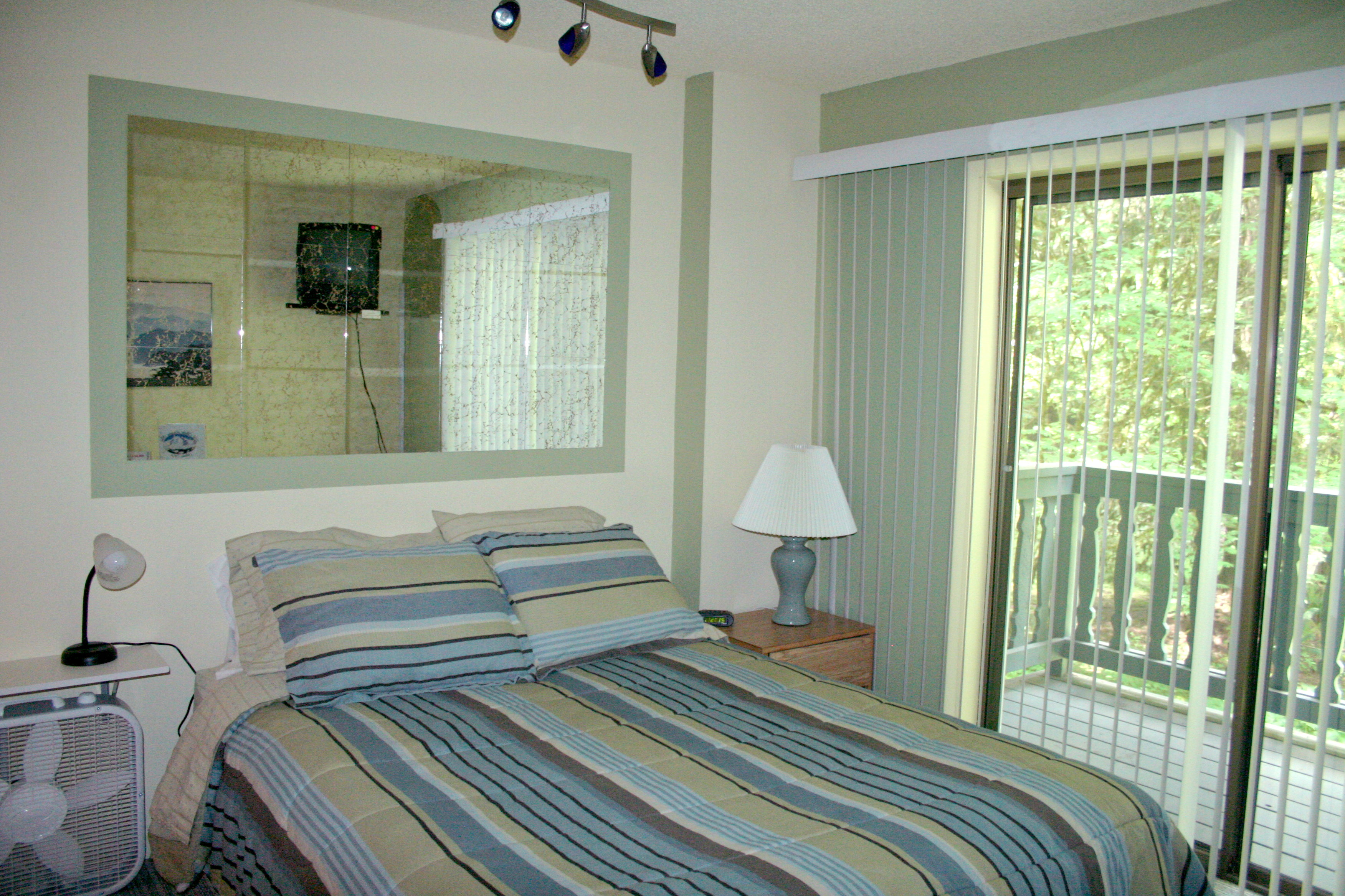 The studio condo with a queen bed