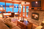 Beach Hideaway - Freeland Washington - Cozy living room overlooking Puget Sound -Whidbey Retreats