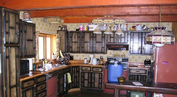 Kitchen open to main room