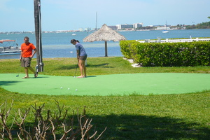 Putting Green on the Water Front