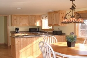 Sunny kitchen and dining room