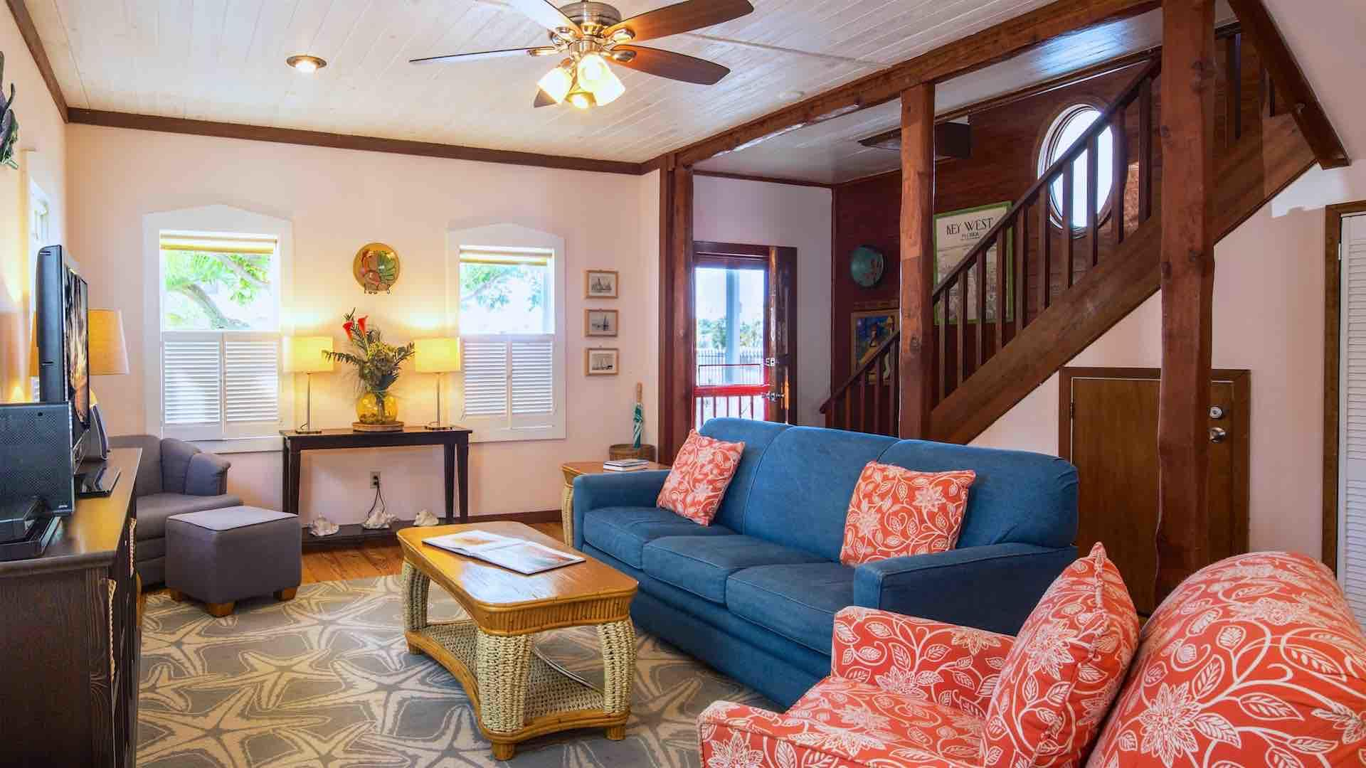 Choose from multiple comfortable seating options in the living room...