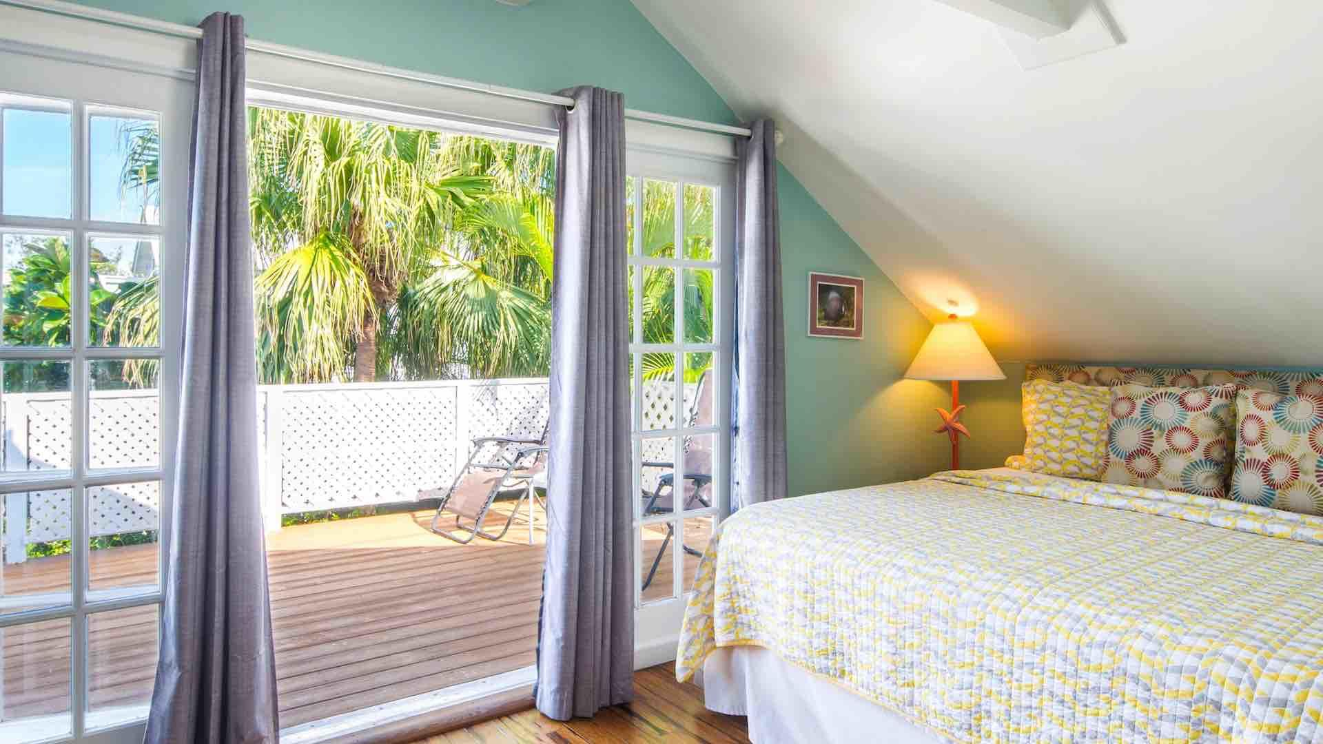 Swing open the French doors to access the balcony or let the island breezes flow through...