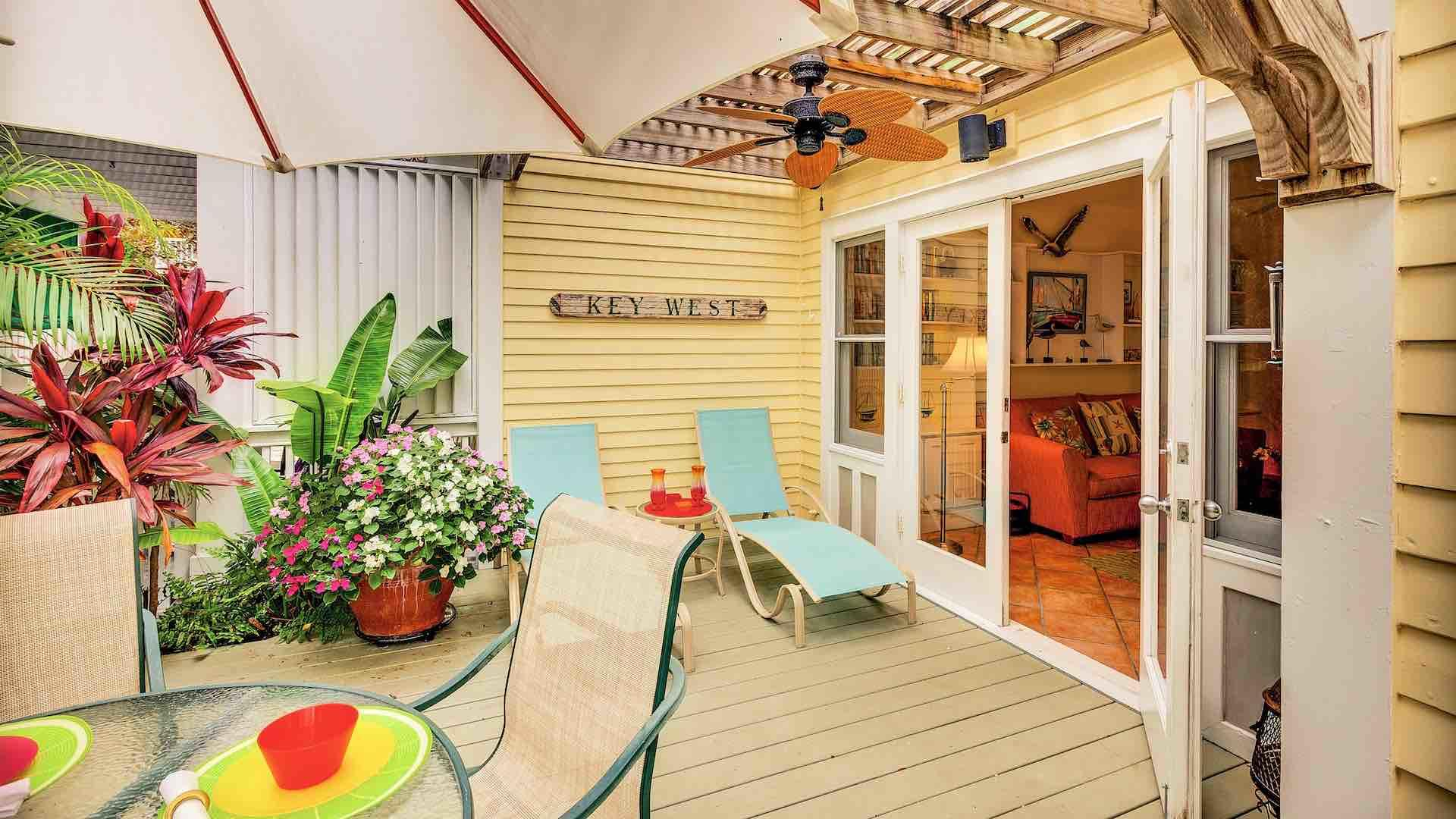 Enjoy some fun in the sun on your own private back patio...