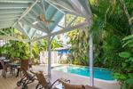 Casa Feliz has a spacious pool surrounded by a generous patio area...