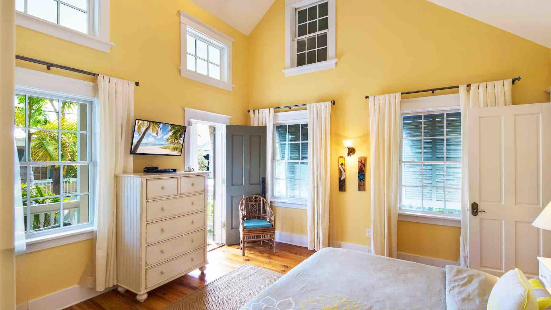 The second master bedroom is located at the front of the house with it's own entrance/exit...