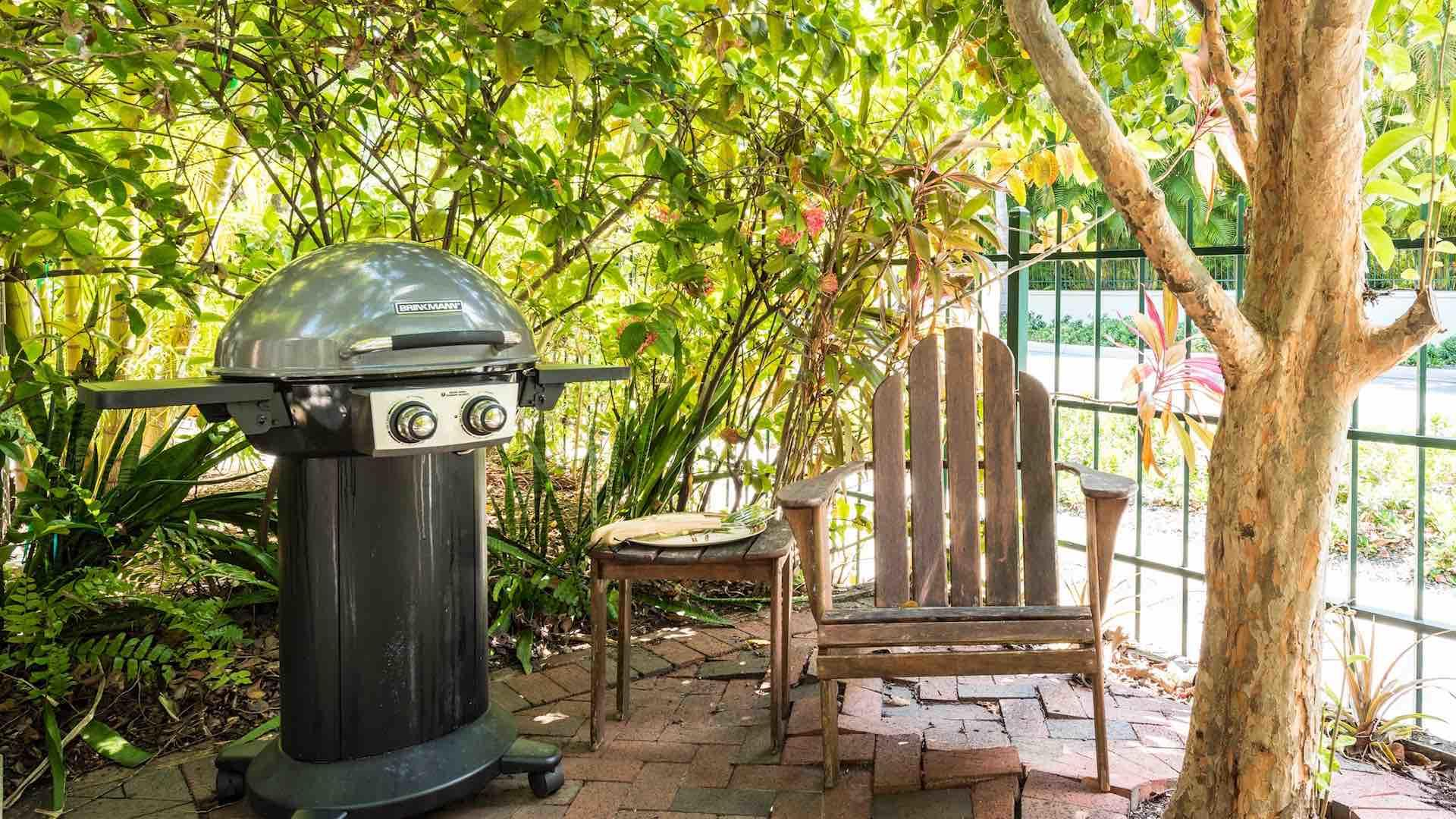 You'll have your own private courtyard out front, complete with a gas BBQ...
