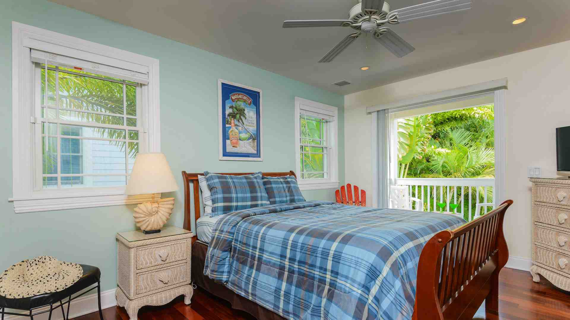 The third bedroom has a Queen sized bed & balcony access...