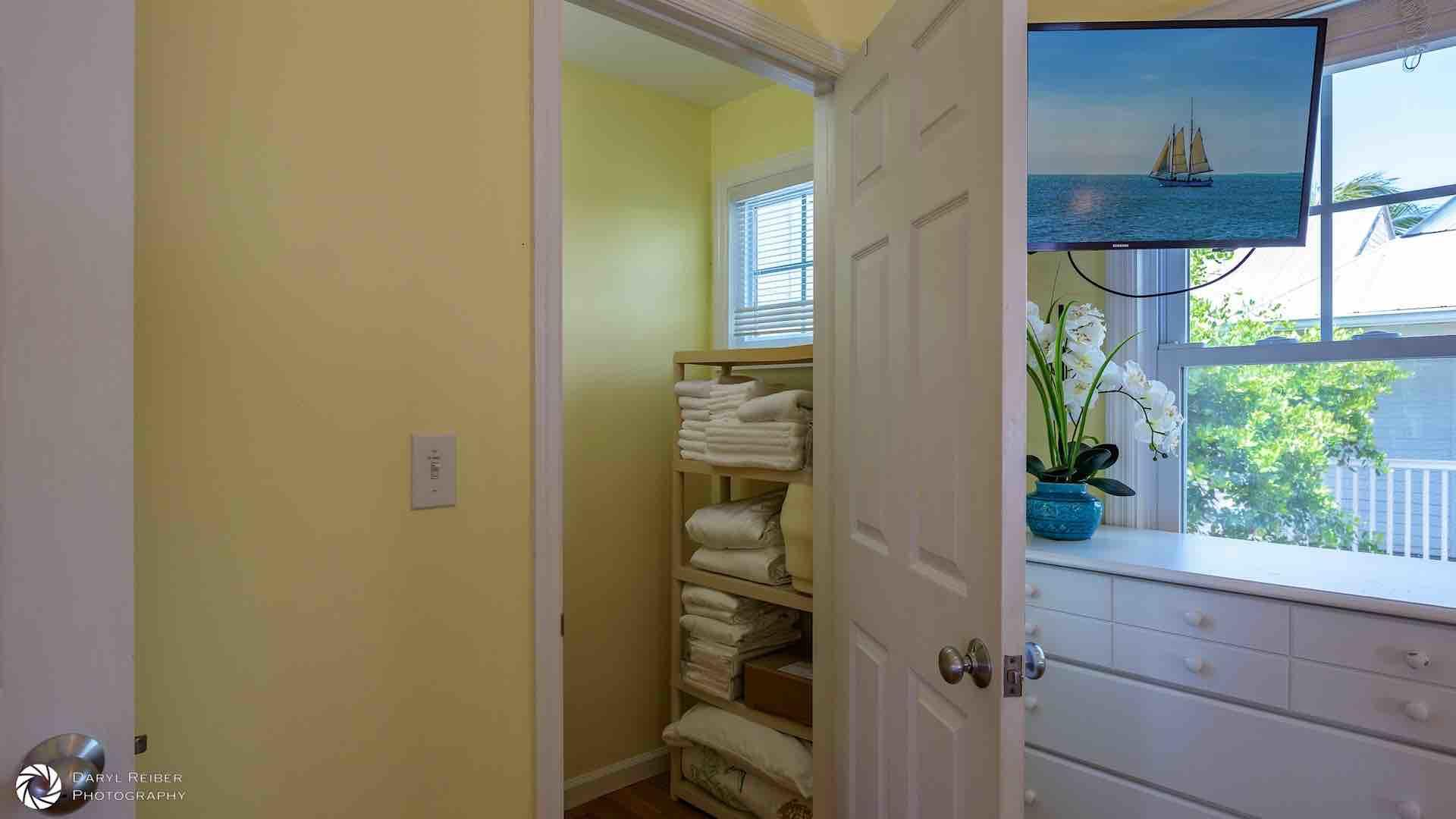 The second bedroom also has a large linen closet...