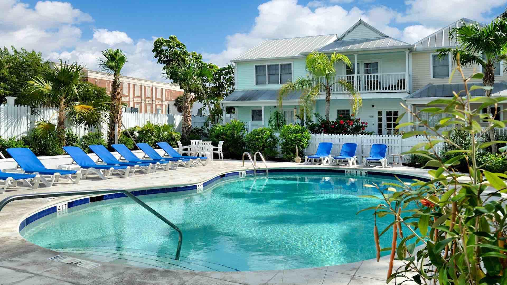 The community pool is just around the corner from your townhouse...
