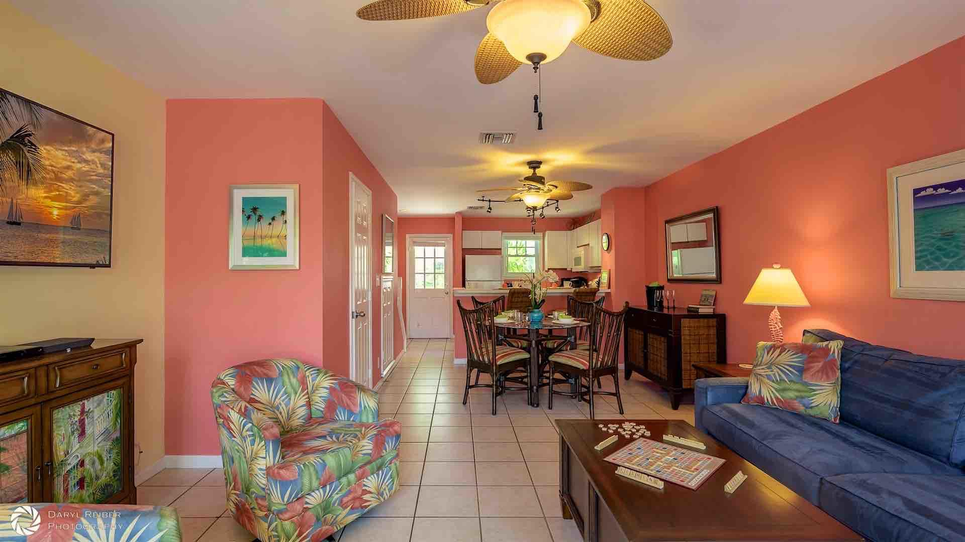 The first floor has an open layout, perfect for entertaining...