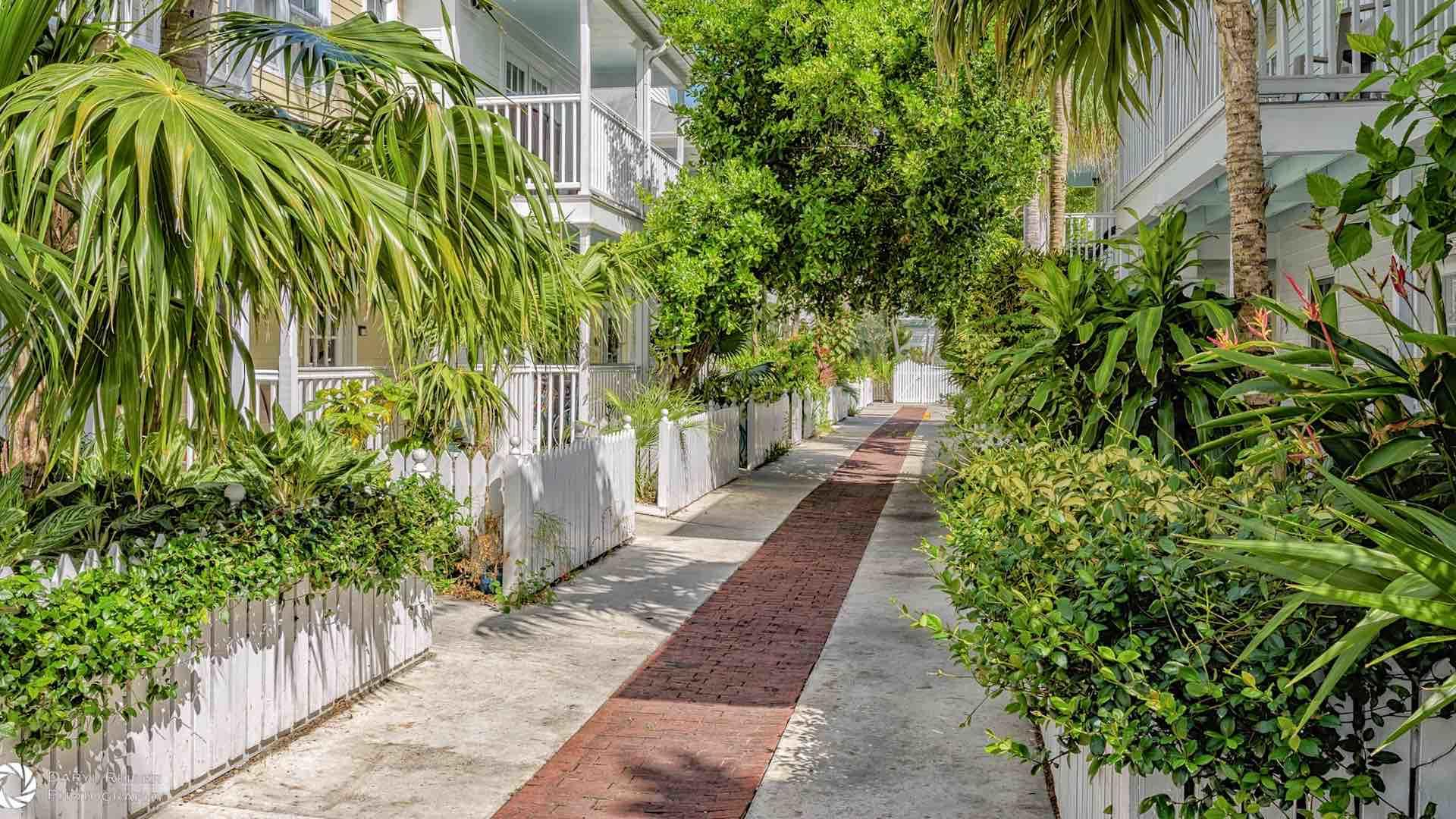 The promenade is lushly landscaped and stays cool even on warm days...