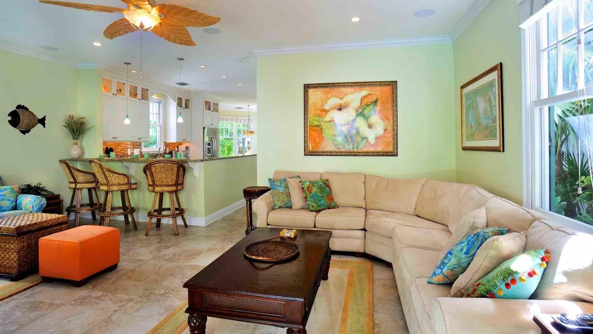 The open plan is perfect for entertaining in the tropics...