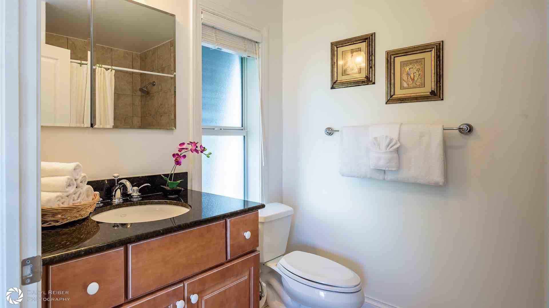 The third bedroom also has an en suite bathroom, with a shower and tub combo...