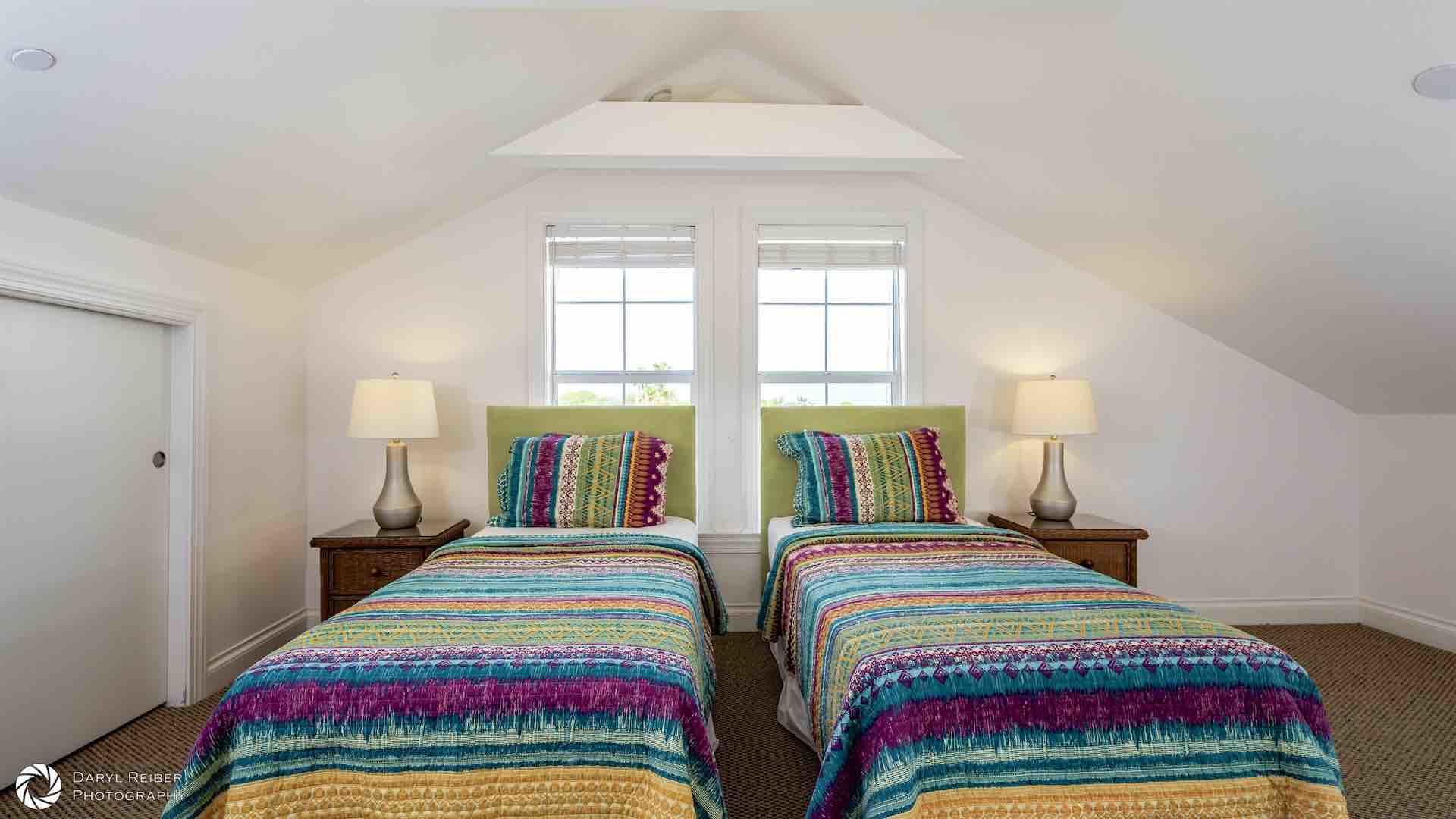 The fourth bedroom is located on the third floor, with two twin beds that can convert to a King bed...