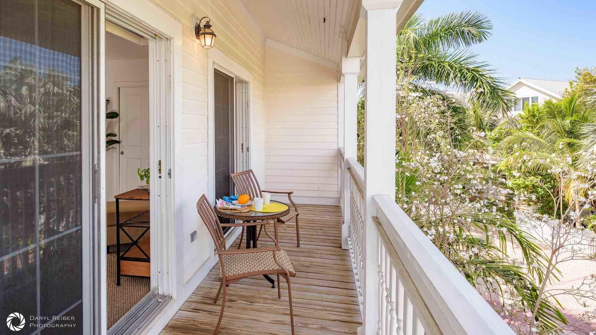 The master bedroom also has a private balcony overlooking the water, with a 3-piece bistro set...