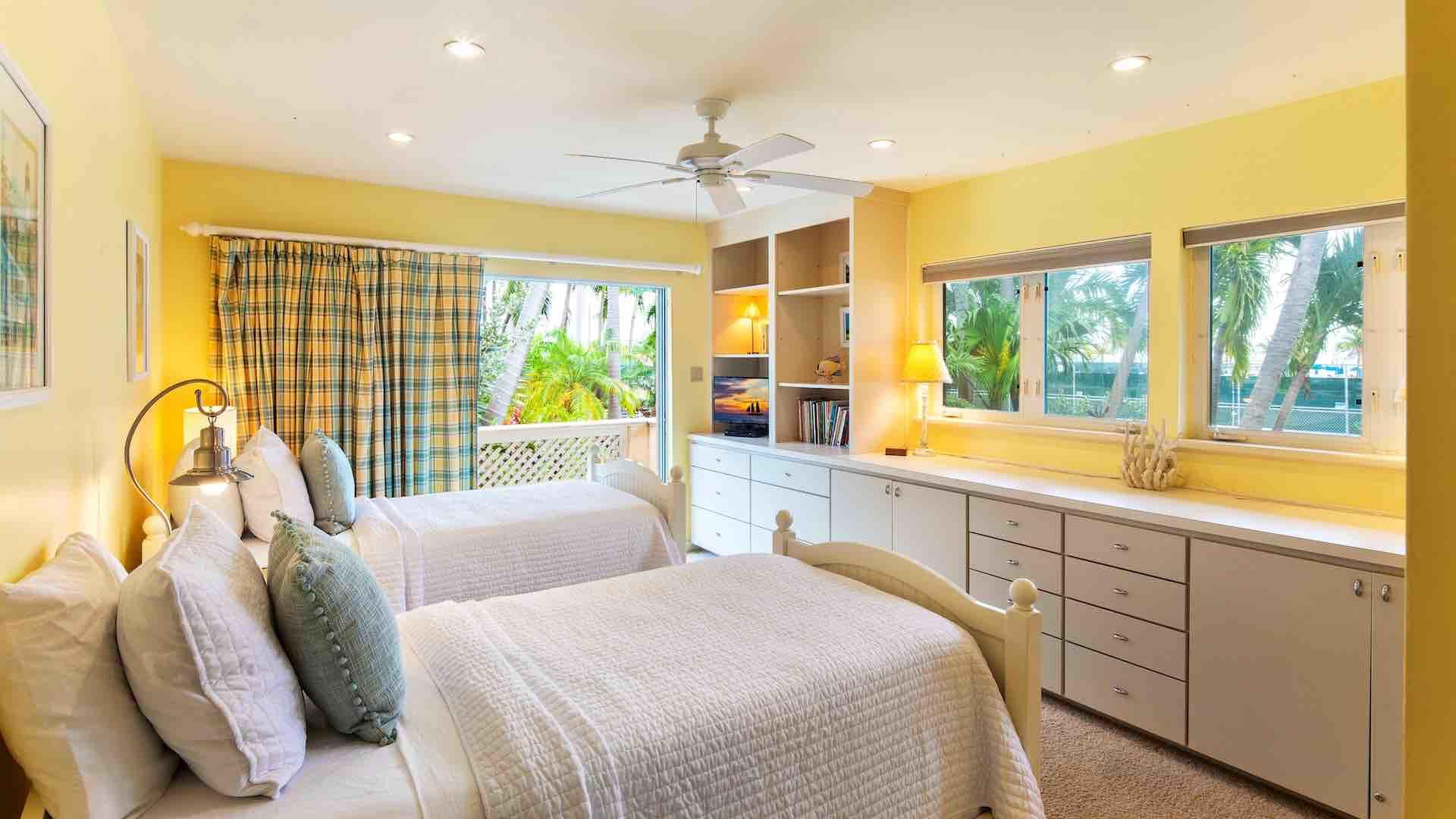 The third bedroom suite has twin beds that convert to a King on request…