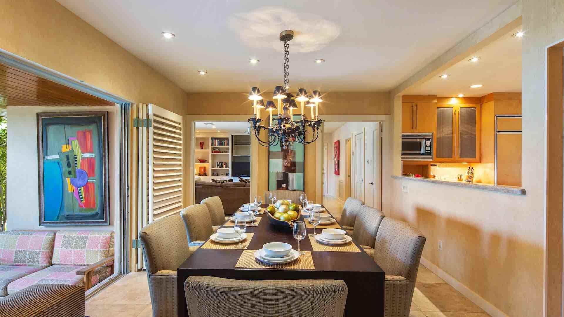 The dining room is separate, but is open to the living room and kitchen…