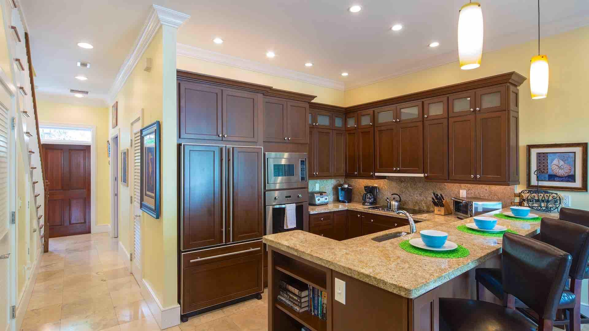 The kitchens are fully equipped with state of the art appliances and all of the tools and utensils you will need to prepare a meal at home...