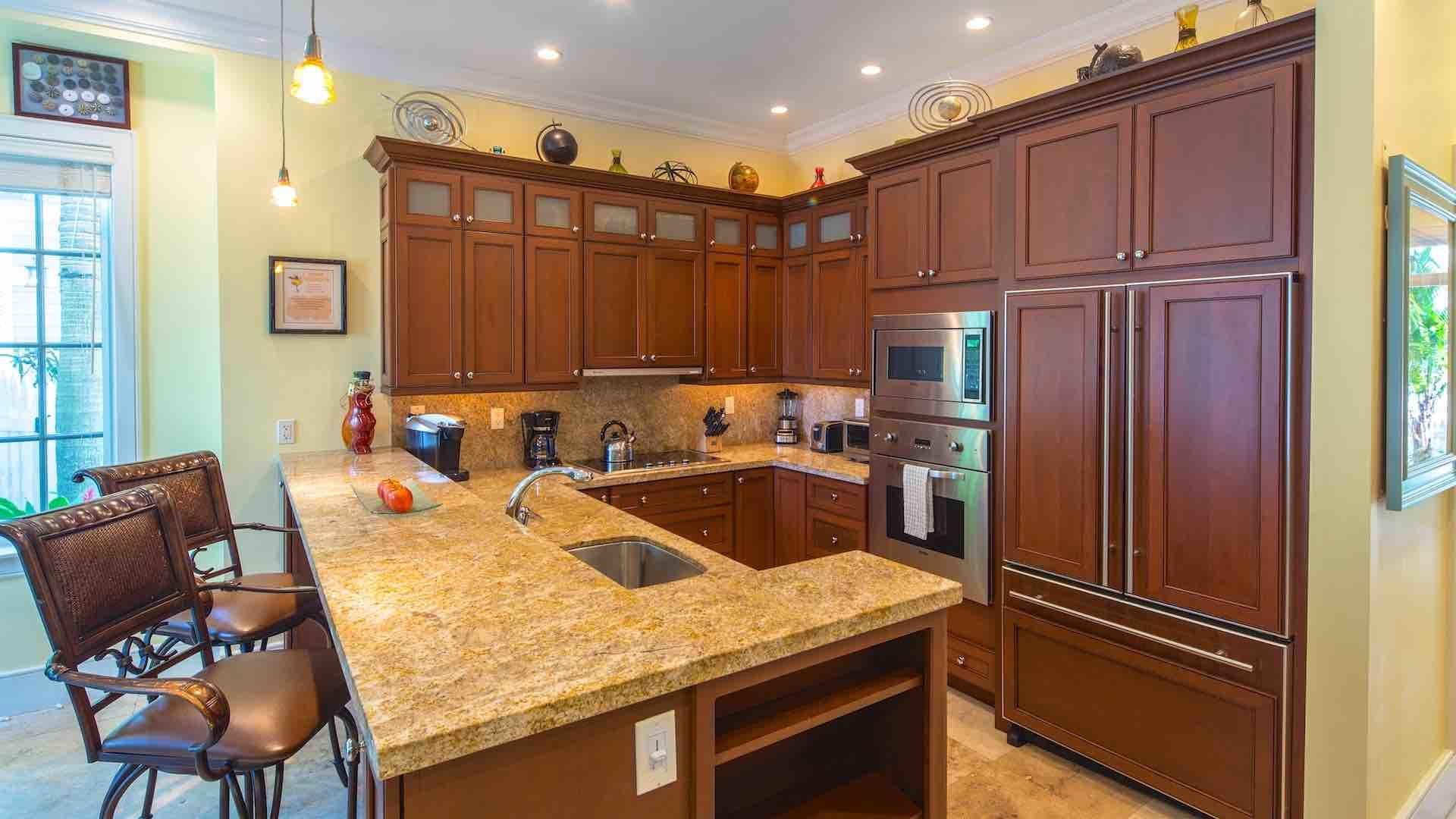 The kitchens have everything you'll need for preparing a meal for a large group...