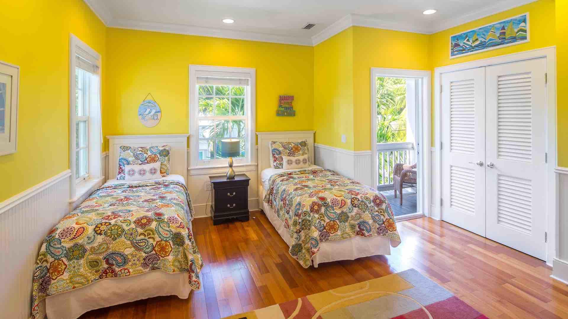 The sixth bedroom has two twin beds that can convert to a King bed upon request...