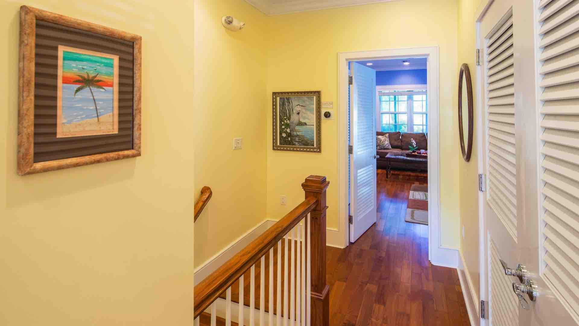 The fifth and sixth bedrooms are located upstairs...