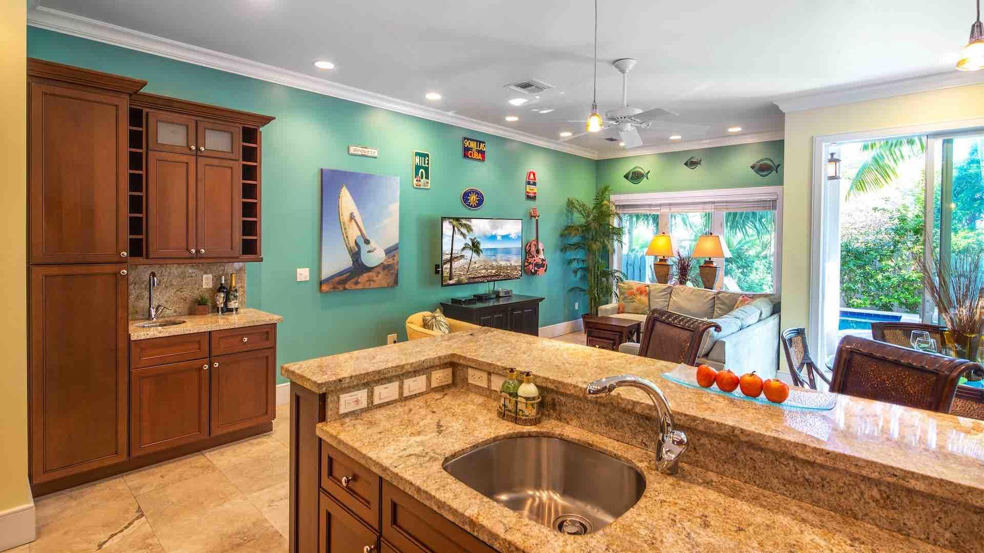 There is also a wet bar in each home, complete with the full bar set up for happy hour your way...