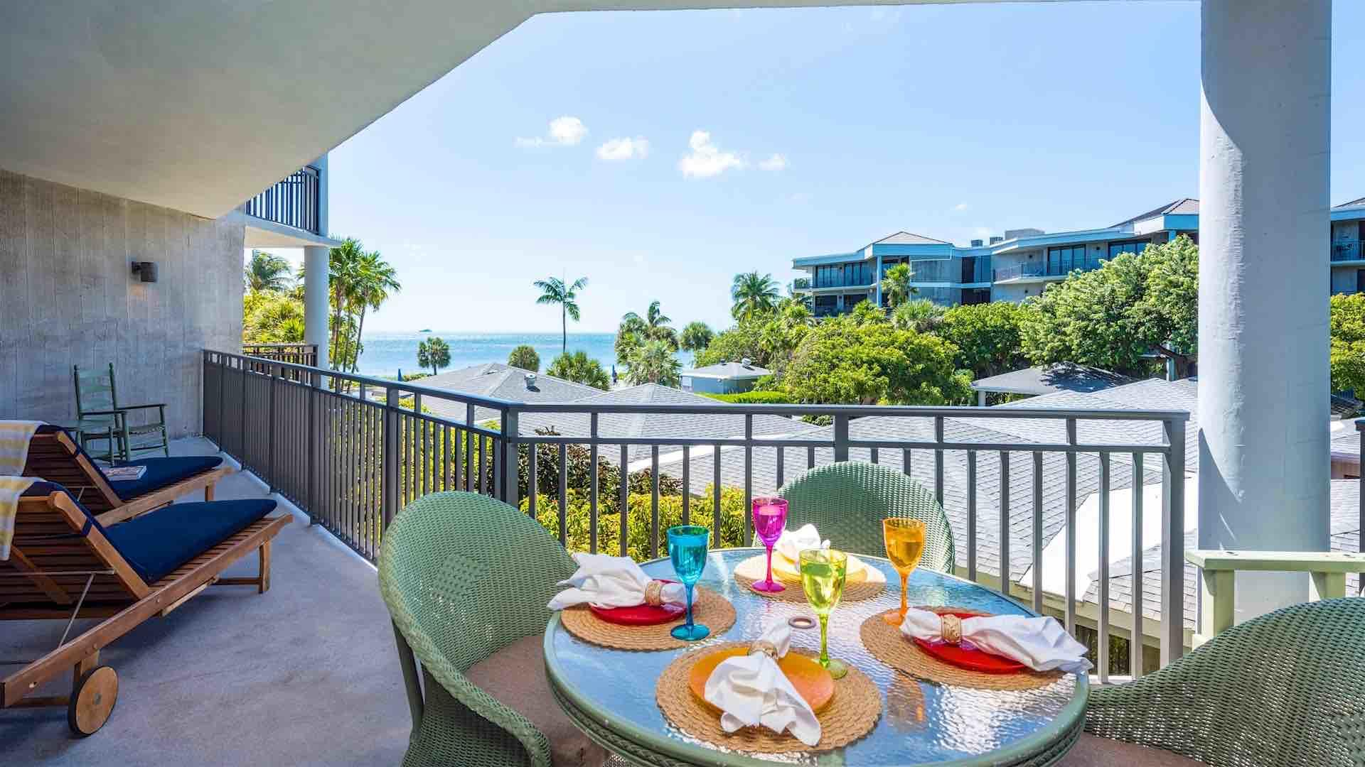 The balcony is a great place to relax, overlooking  the Ocean…